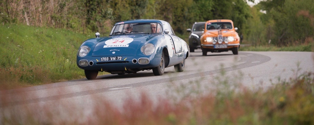 a 1956 Panhard Monopole leads the way during this segment of the 2017 Tour Auto in France | Dirk de Jager photos