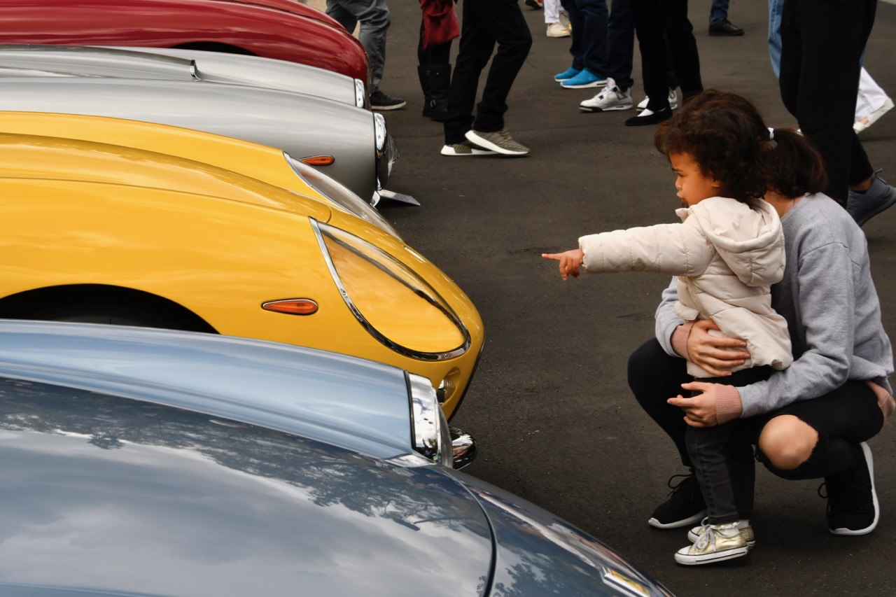 This youngster is enthusiastic about Ferraris displayed at the Greystone concours d'elegance | Photos by Howard Koby