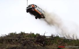 A van takes flight off Alaskan cliff | Fuel Curve photo