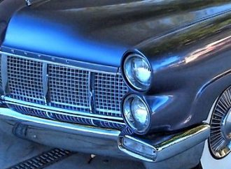 Unique 4-headlight 1956 Lincoln Mark II at Russo and Steele