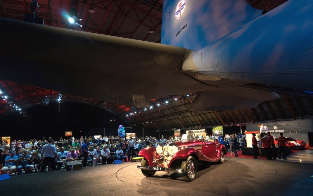 Historic Barker Hangar again will be the site of the now-RM Sotheby's auction | Auctions America photo