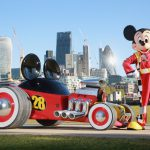 EDITORIAL USE ONLY Mickey Mouse poses with his model Roadster Racer in Potters Field London, to celebrate the new series 'Mickey and the Roadster Racers', which airs on Disney Junior on Wednesdays at 5pm, and on DisneyLife. PRESS ASSOCIATION Photo. Issue date: Wednesday April 26, 2017. Photo credit should read: Matt Alexander/PA Wire
