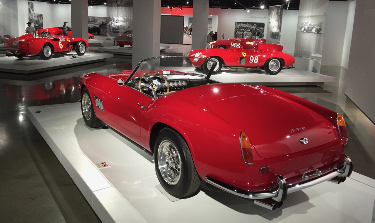 Part of the 'Seeing Red' exhibition of Ferraris at the Petersen Automotive Museum | Larry Crane photos