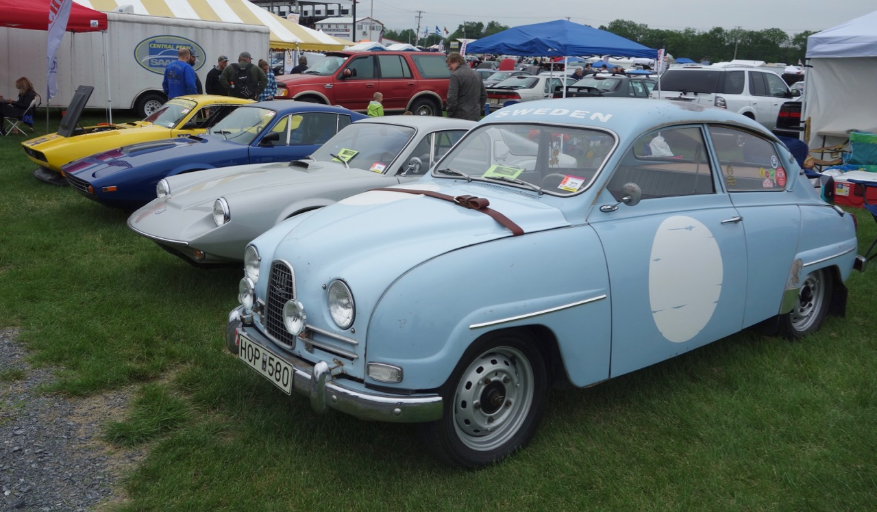 Saabs of all shapes, sizes and vintages were among the cars shown at Carlisle's annual Import and Performance event | Andy Reid photos