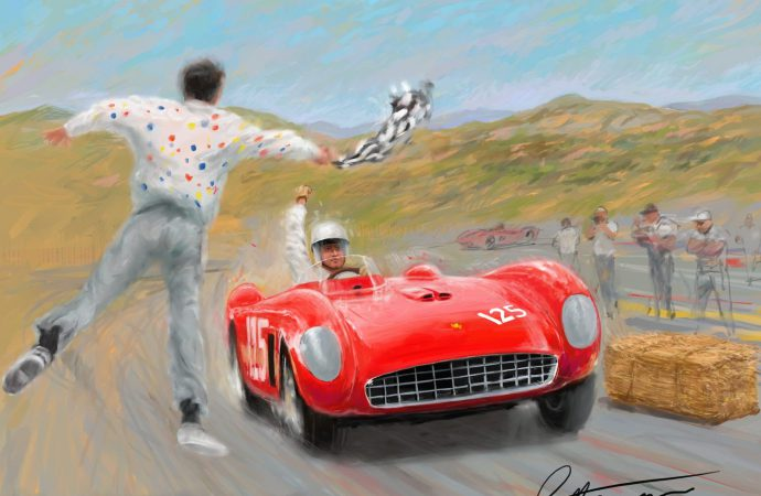 Laguna Seca poster features first winning car