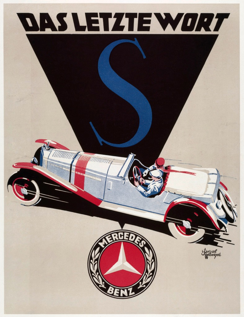 1928 Model S advertising poster