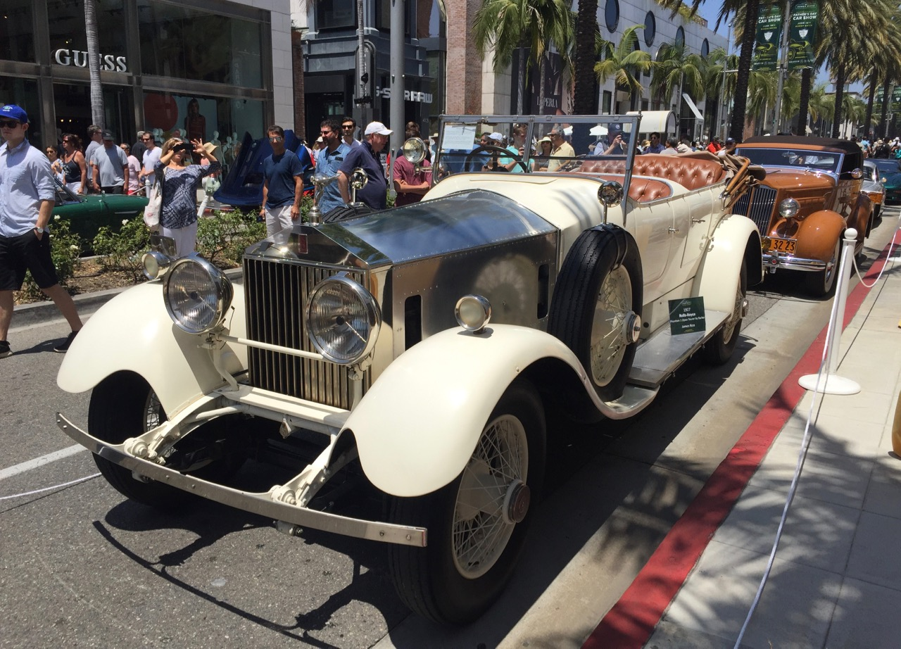 1927 Rolls-Royce Phantom 1 Barker Tourer on Rodeo Drive | Larry Crane photos