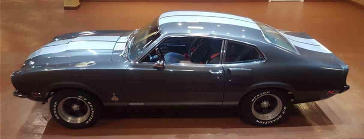 1973 Ford Maverick redone as a Carroll Shelby tribute vehicle
