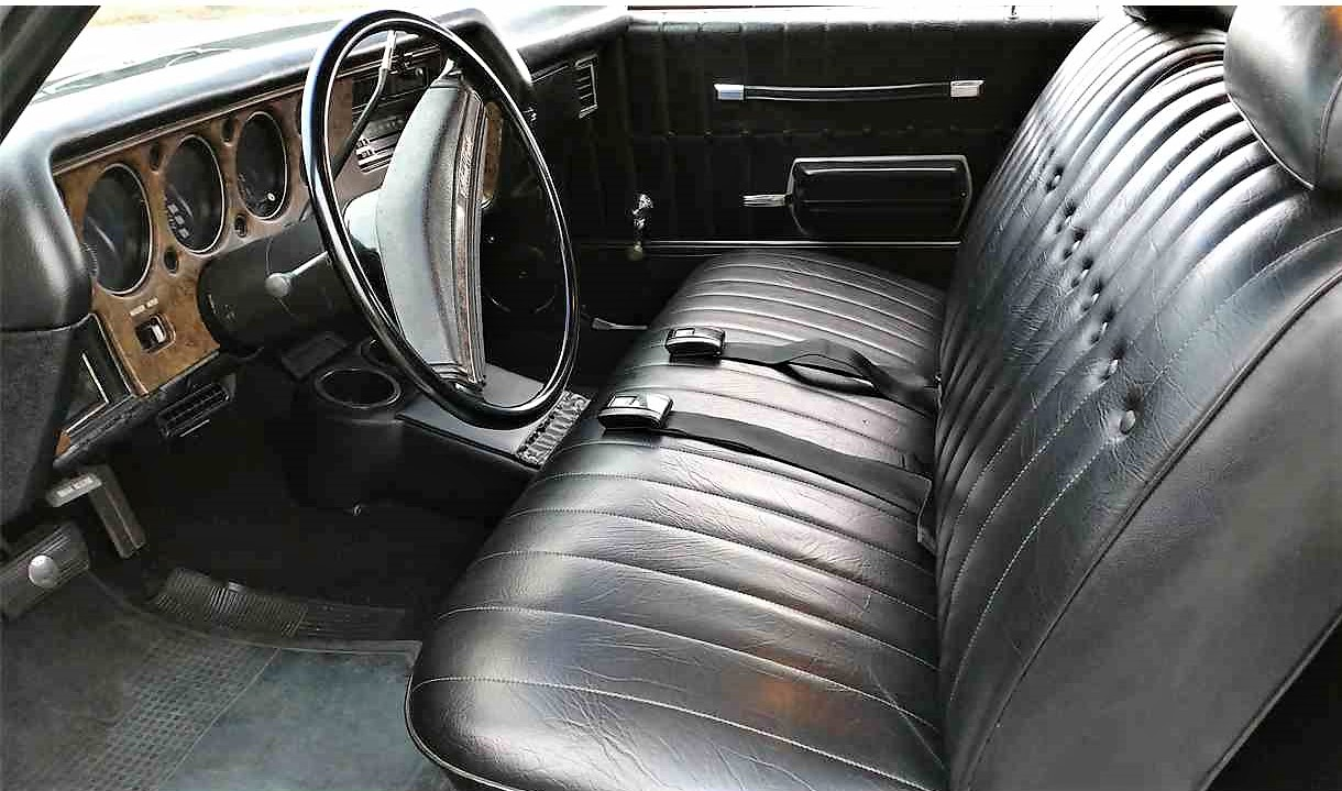 The original interior looks exceptionally clean and intact
