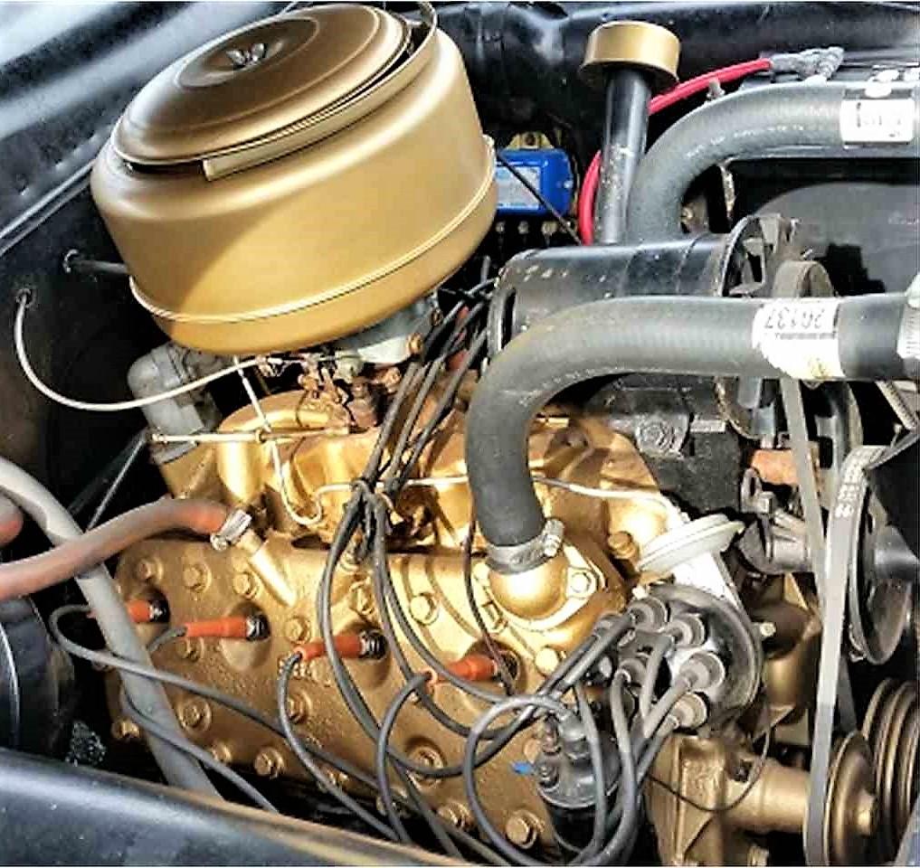 Flathead V8 in gold