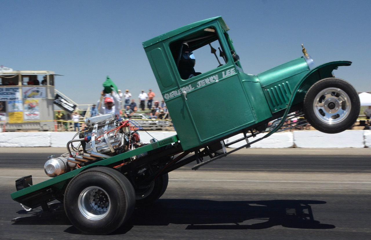 80-year-old General Jerry Le, brought his Model T wheelie truck and wowed the crowds