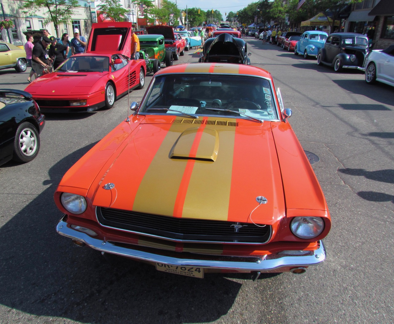 1965 Ford Mustang in downtown Clare, Michigan