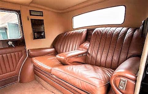 Opulent accommodations in the Bentley Sedanca