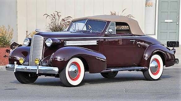 1937 Cadillac convertible coupe