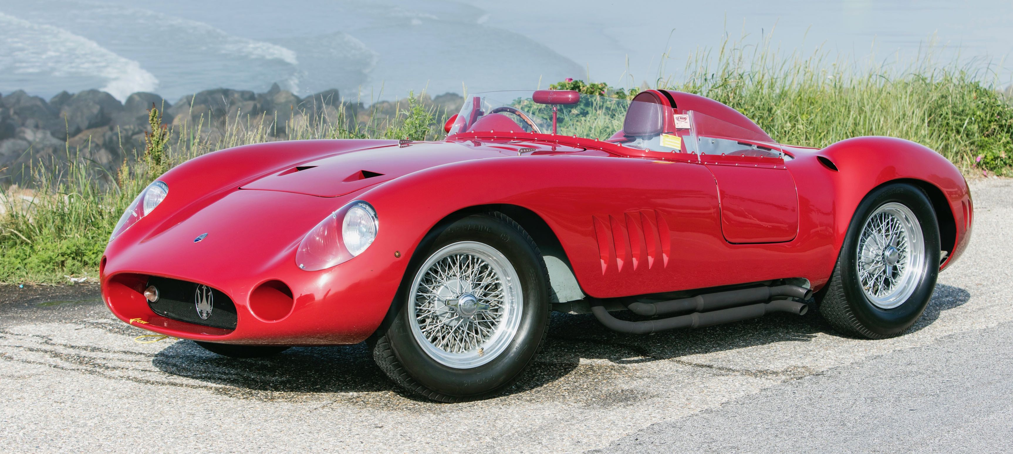 Juan Manual Fangio won two major races in this 1957 Maserati 300 S | Bonhams photos
