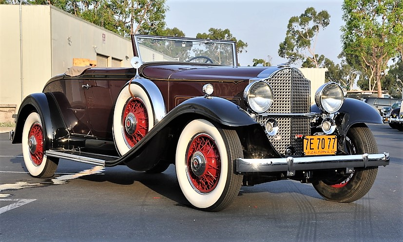 A handsome 1932 Packard 902 coupe roadster is part of the Devotion Collection | Russo and Steele photos