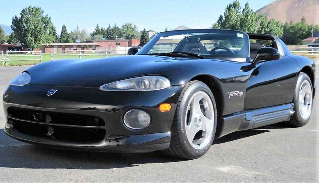 The Dodge Viper is a low-mileage survivor said to be in excellent condition