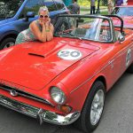 A Sunbeam Tiger's enthusiastic owner.