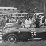 C type jag Ian Stewart racing in Jersey
