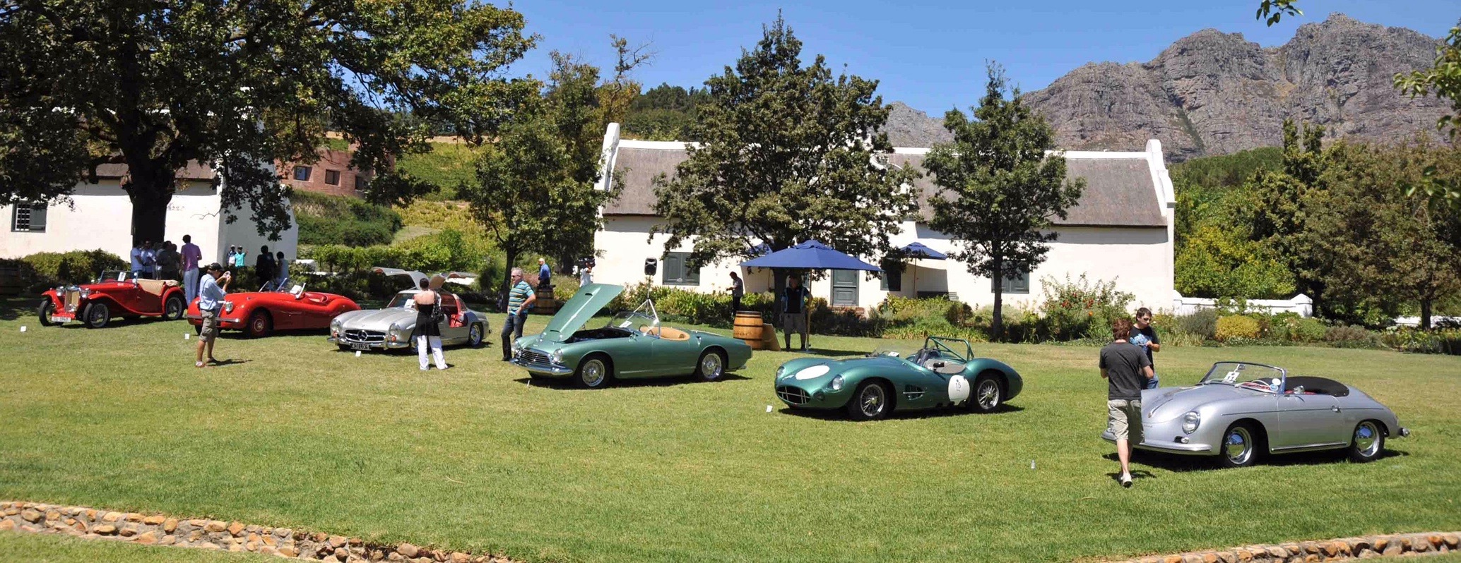 Cars at the inaugural Concours South Africa in 2016 | Coys photos