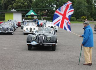 XK Jaguars do a lap around Great Britain, and for good reason