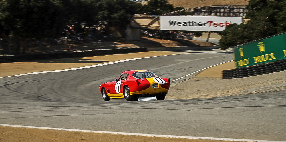 Ferrari speeds down famous Corkscrew