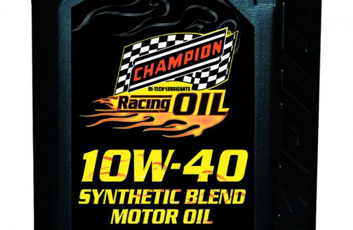 Champion Brands creates new 10W-40 Racing Motor Oil