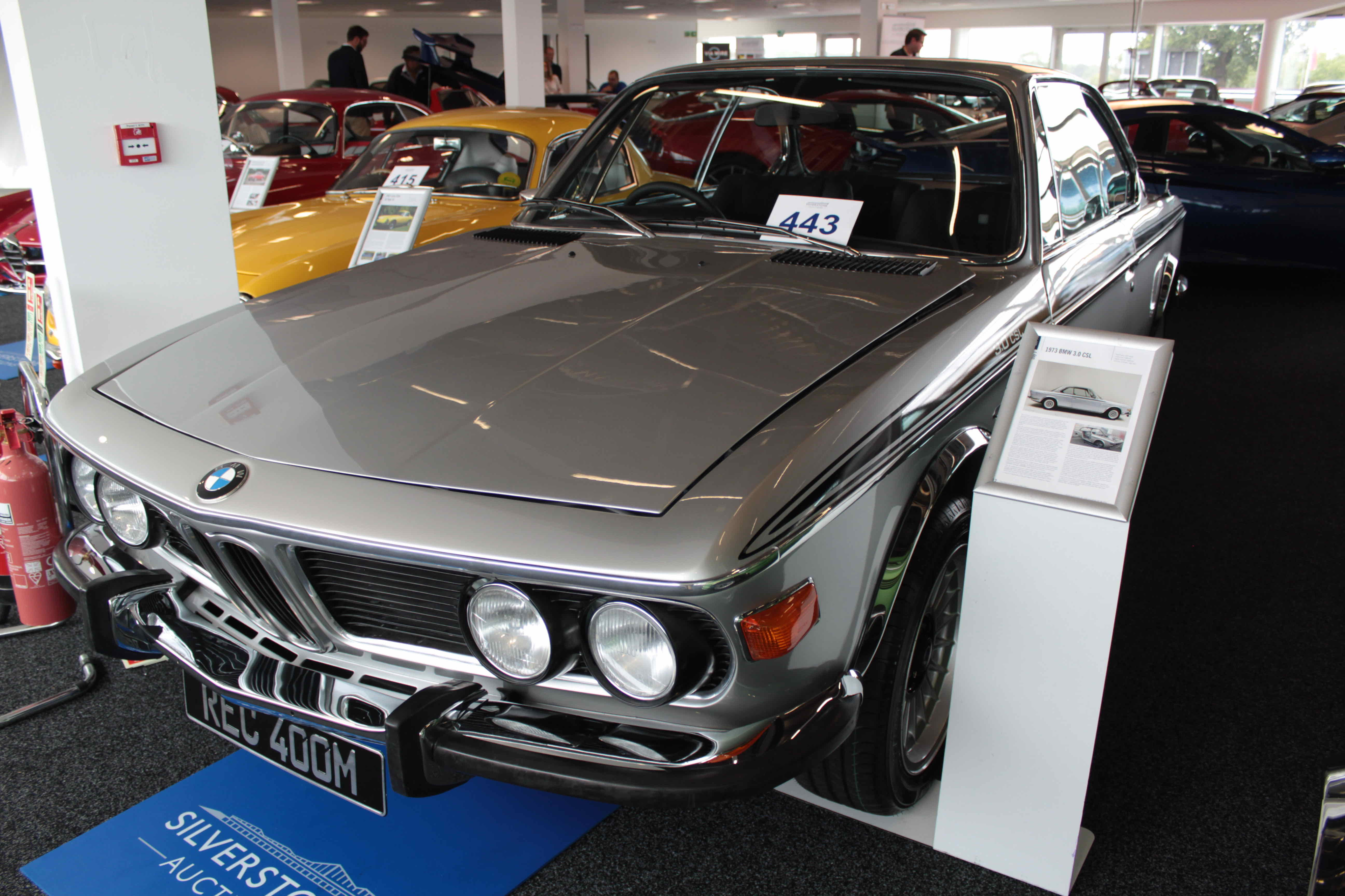 1973 BMW 3.0 CSL does exceptionally well on the block