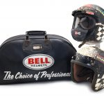 A 1976 Longtrack Championship Final helmet,