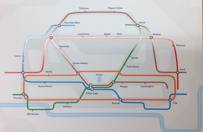 Cover story: London auction catalog mimics style of Underground route map