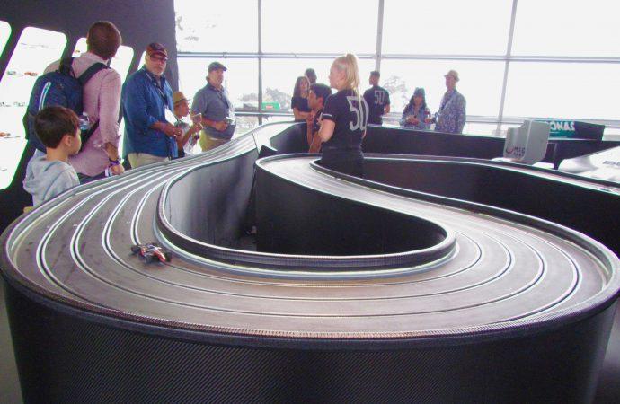 At Pebble Beach, Mercedes showcases Laguna Seca slot-car track