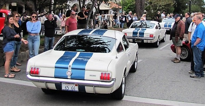 Shelby GT350s parades into Carmel Concours |Bob Golfen