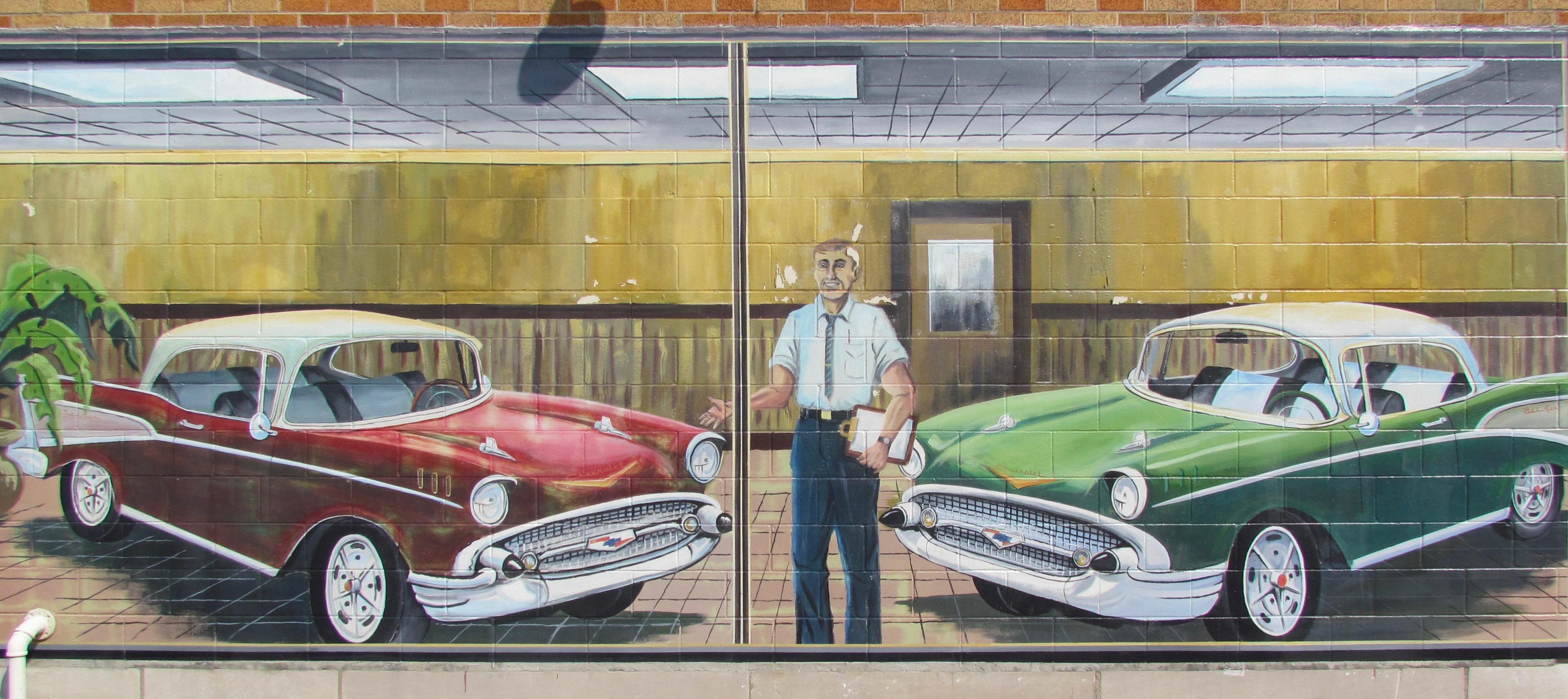 Looking For Automotive Art Along Americas Twolane Roads - Classic car lots near me