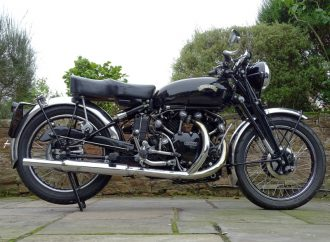 1951 Vincent Black Shadow tops auction at British motorcycle museum