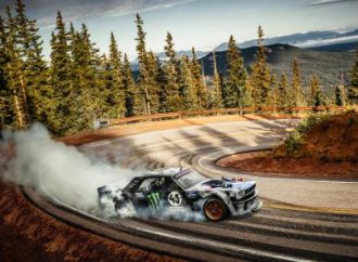 Somewhat modified 1965 Ford Mustang 'hoonigans' Pikes Peak