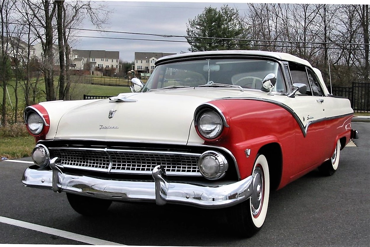 Top down 1955 ford fairlane sunliner