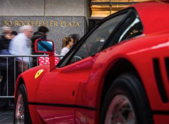 New York turns Ferrari red for birthday celebration