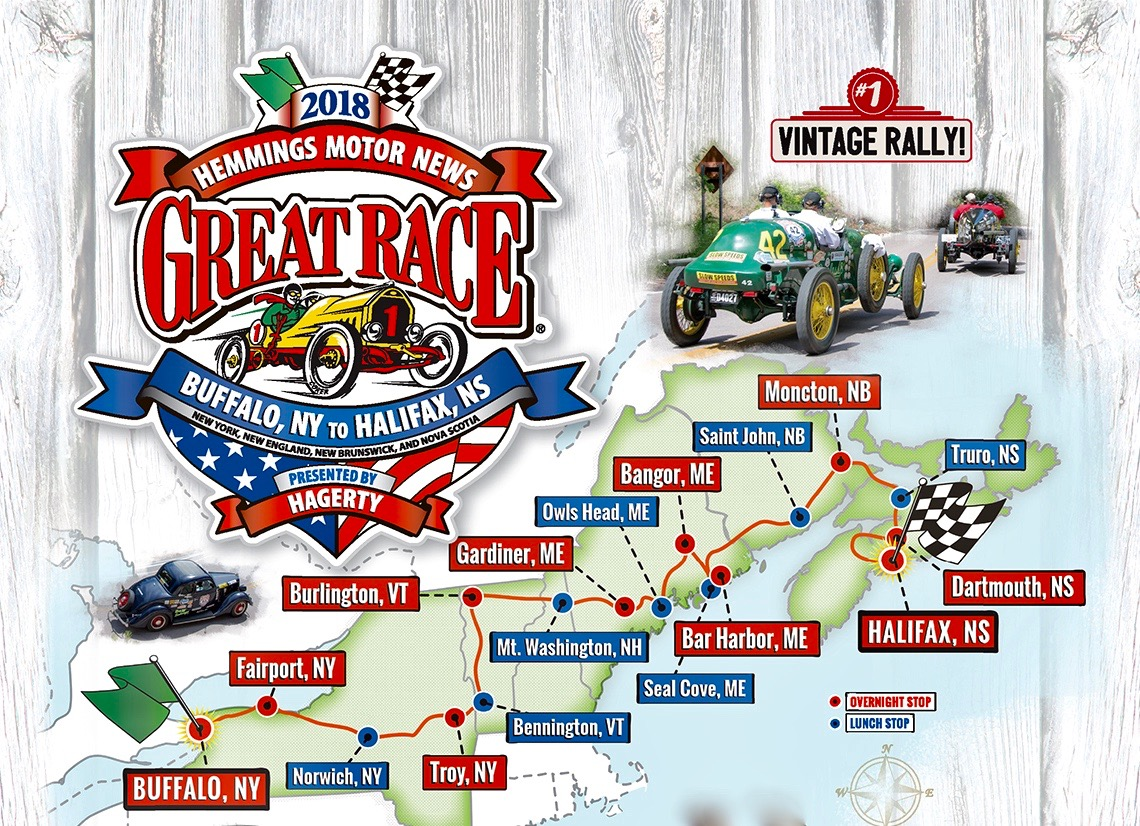 The Great Race 2018 set to travel from Buffalo to Halifax | ClassicCars