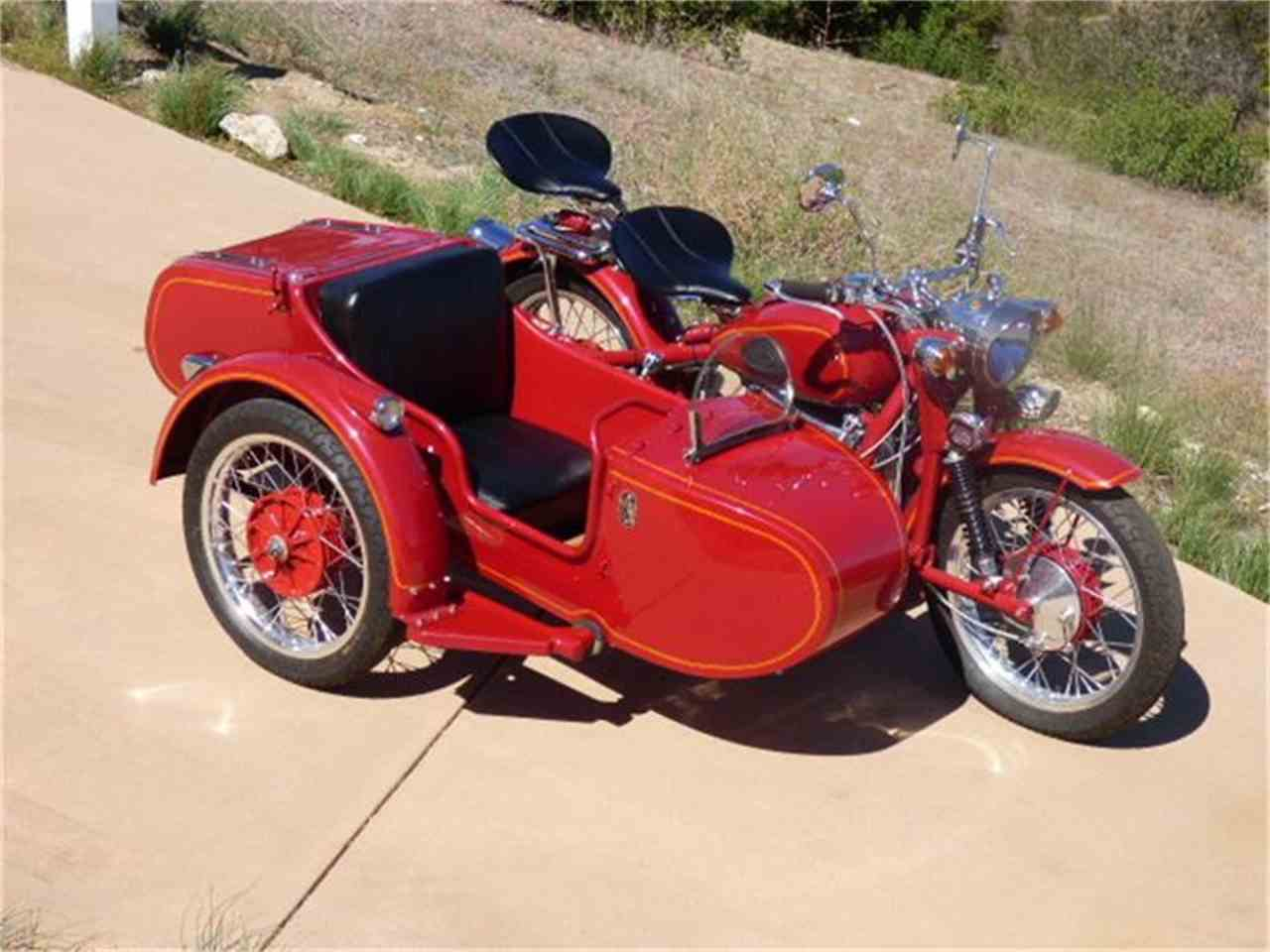 Three-wheelers are popular, but vintage motorcycles with
