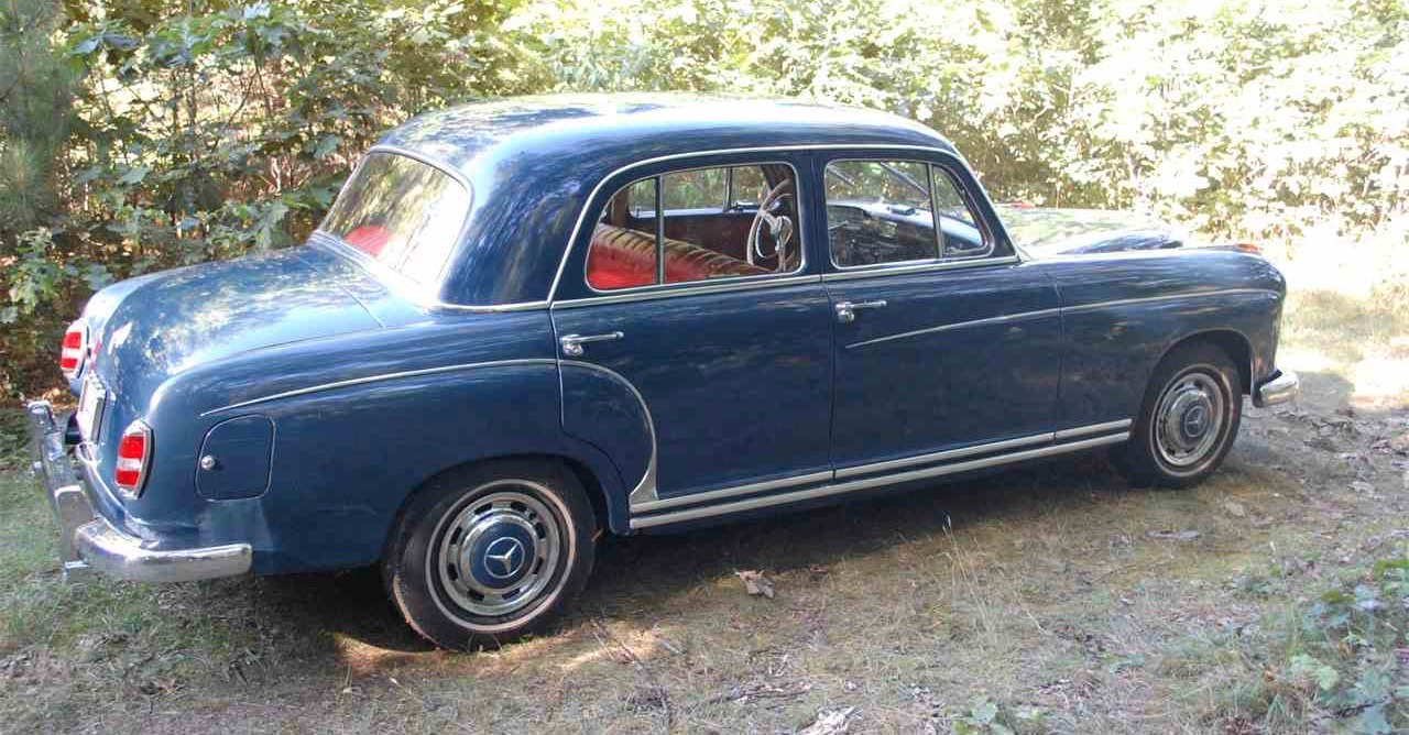Blue 1959 Mercedes-Benz with red leather interior | ClassicCars.com