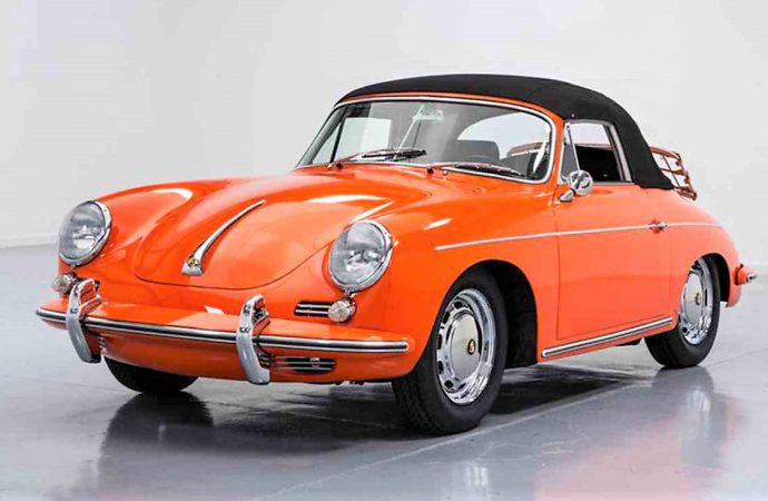 Rare orange '65 Porsche 356 C Cabriolet