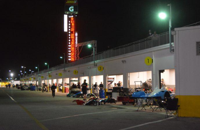 Daytona vintage race cars shine bright in the dark of night   ClassicCars