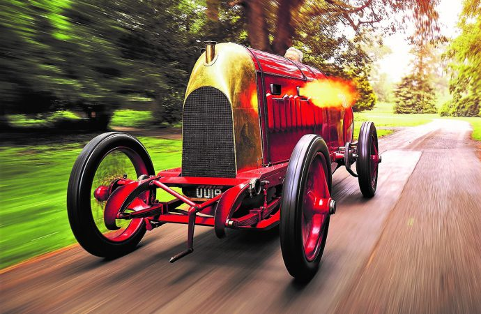 Flame-throwing 1910 Fiat, the 'Beast of Turin,' will be driven at London show