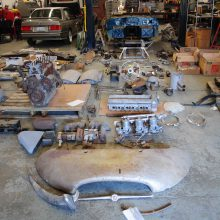 Assembly required: Barons has '63 Jag E-type restoration project on its docket