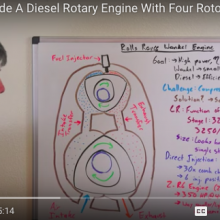 The science behind Rolls-Royce's oddball four-rotor diesel rotary engine