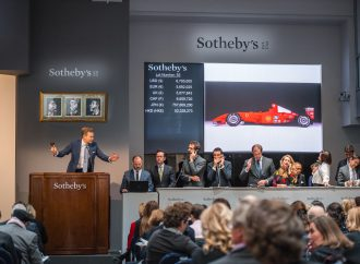 Schumacher Ferrari racer sells for a record $7,504,000 at an art auction
