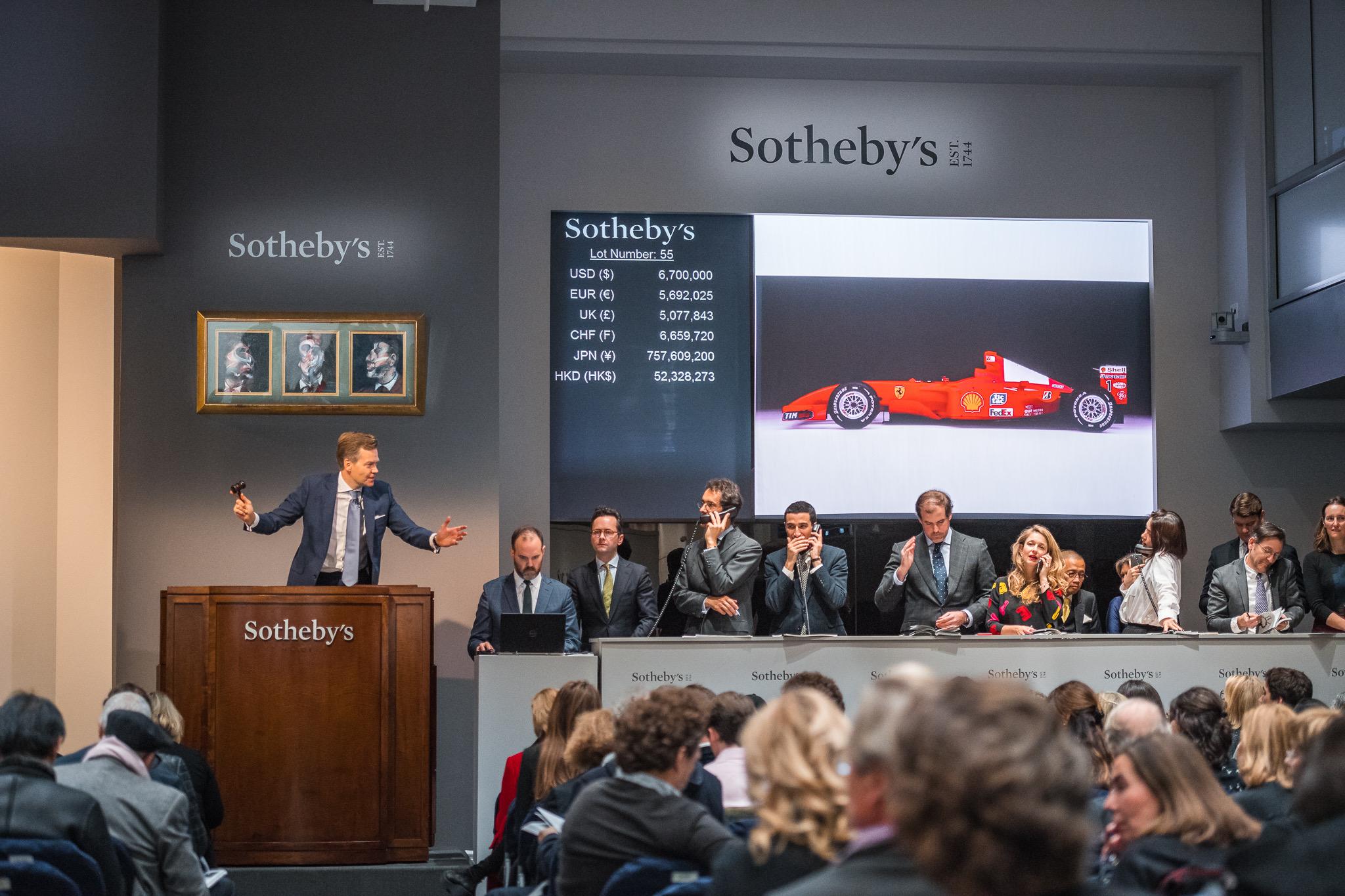 Schumacher Ferrari racer sells for a record $7,504,000 at art auction