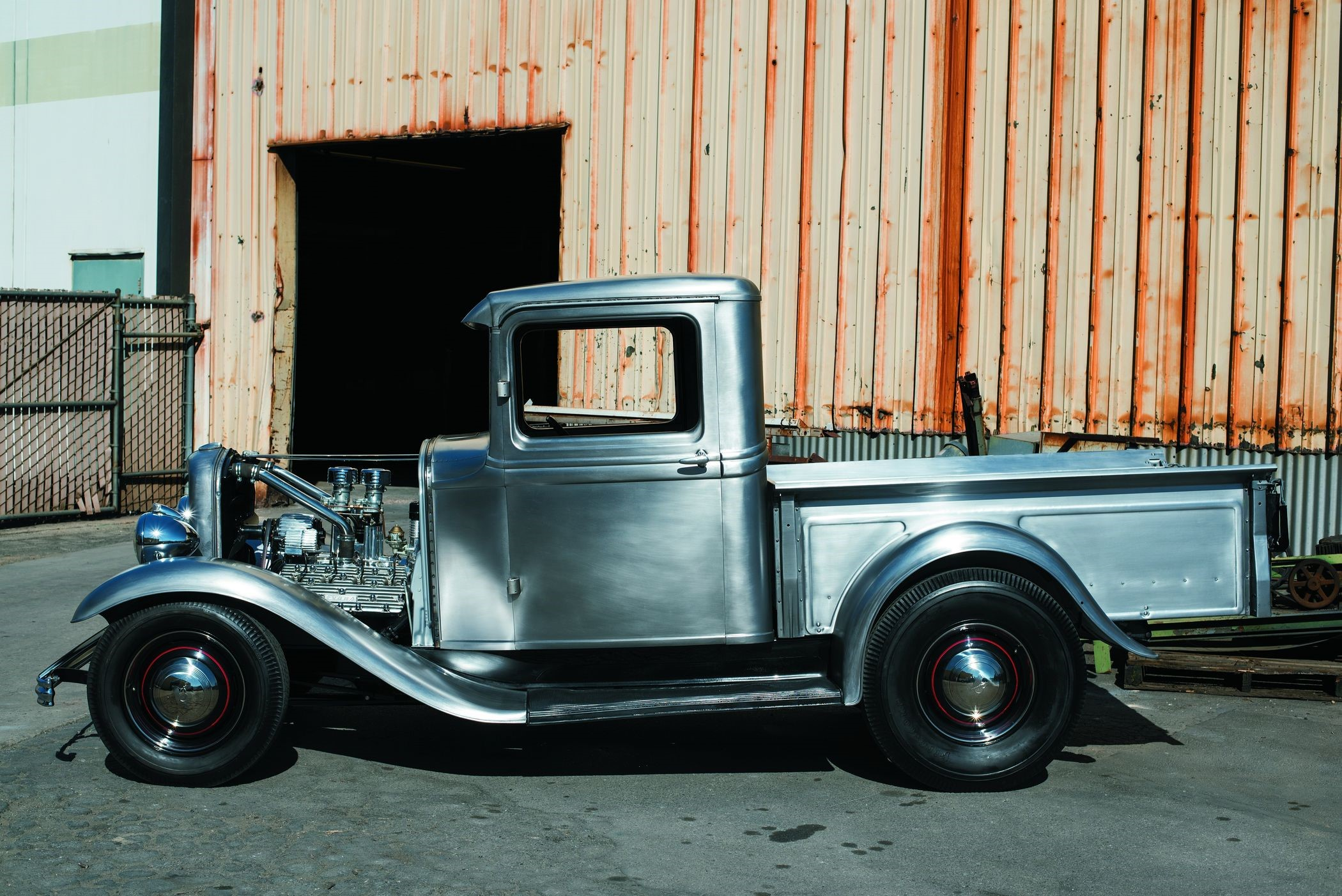 United Pacific unveils steel body for 1932-34 Ford trucks at SEMA