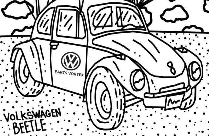 Fun for all ages: Download a free 4-page VW coloring book