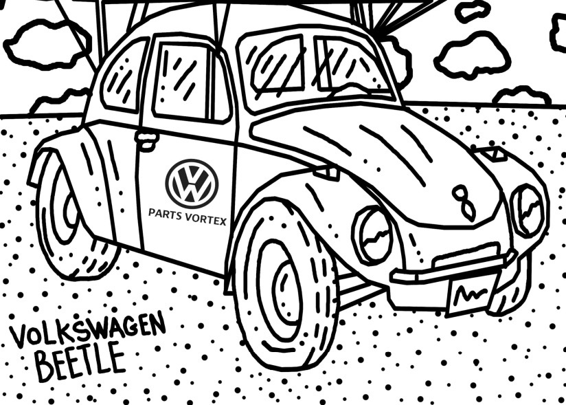 Fun For All Ages Download A Free 4 Page VW Coloring Book